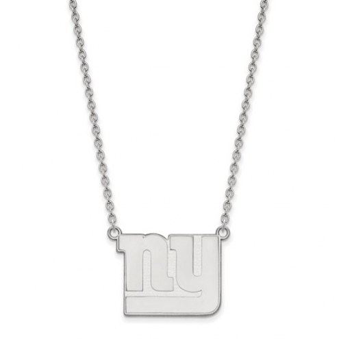 New York Giants Sterling Silver Large Pendant with Necklace