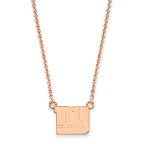New York Giants Sterling Silver Rose Gold Plated Small Pendant Necklace