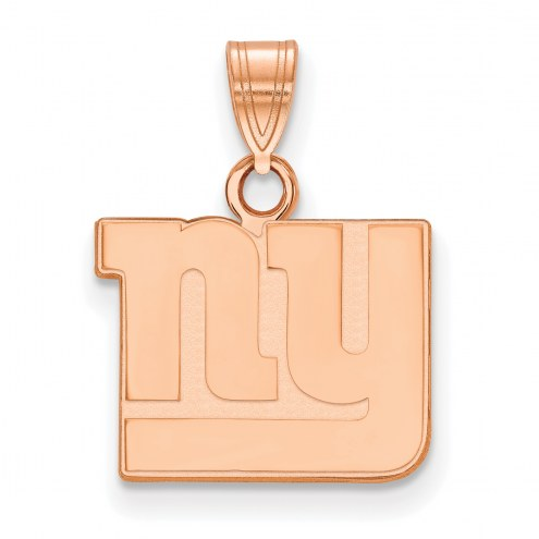 New York Giants Sterling Silver Rose Gold Plated Small Pendant