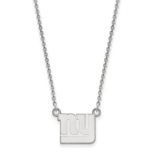 New York Giants Sterling Silver Small Pendant with Necklace