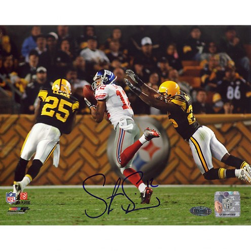 "New York Giants Steve Smith Catch vs Steelers Signed 16"" x 20"" Photo"