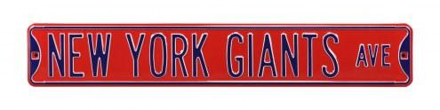 New York Giants Street Sign