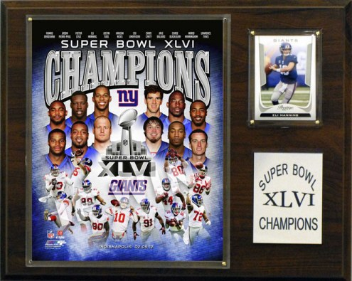"New York Giants 12"" x 15"" Super Bowl XLVI Champions Plaque"