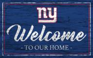 New York Giants Team Color Welcome Sign