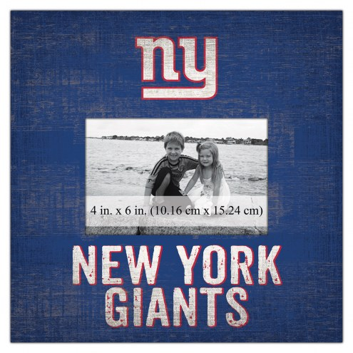 """New York Giants Team Name 10"""" x 10"""" Picture Frame"""