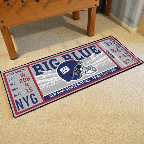 New York Giants Ticket Runner Rug