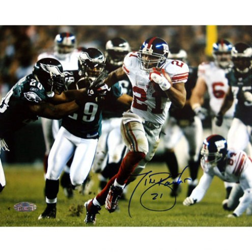 "New York Giants Tiki Barber Last Playoff Game Signed 16"" x 20"" Photo"