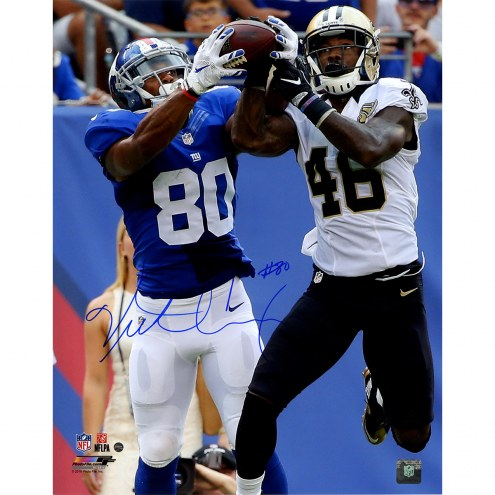 "New York Giants Victor Cruz Catch vs. Saints Signed 16"" x 20"" Photo"