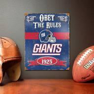 New York Giants Vintage Metal Sign