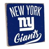 New York Giants Vintage Square Wall Sign