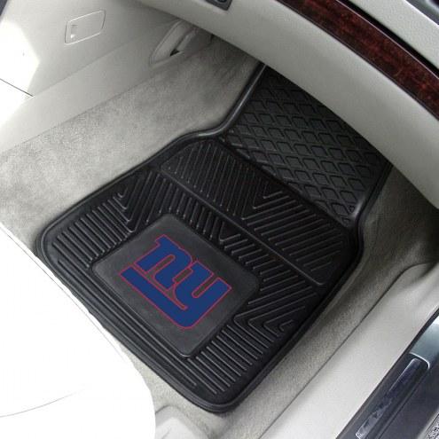 New York Giants Vinyl 2-Piece Car Floor Mats