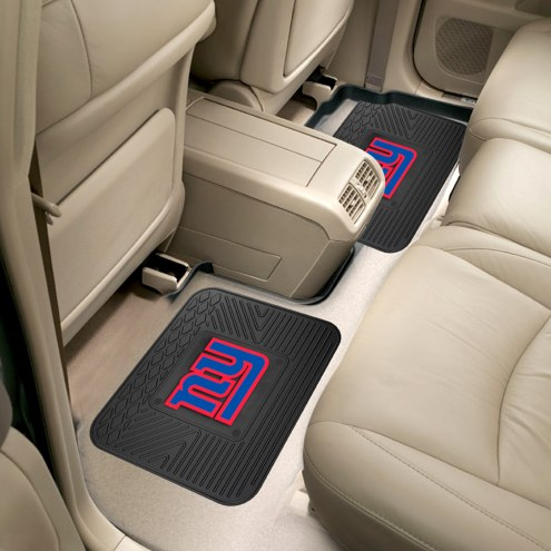 New York Giants Vinyl 2-Piece Rear Floor Mats