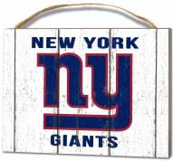 New York Giants Weathered Logo Small Plaque