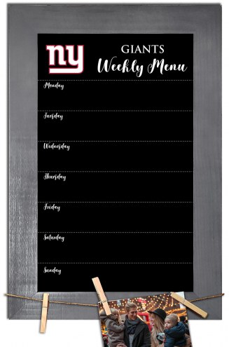 New York Giants Weekly Menu Chalkboard with Frame