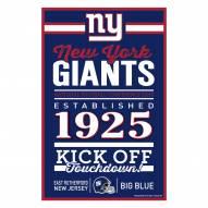 New York Giants Established Wood Sign