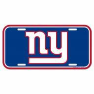 New York Giants License Plate