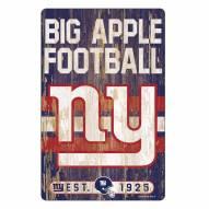 New York Giants Slogan Wood Sign