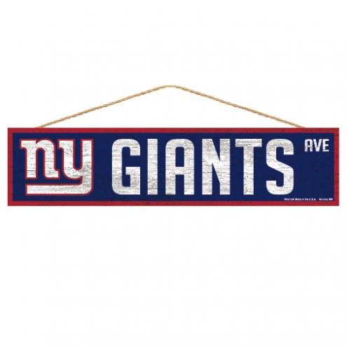 New York Giants Wood Avenue Sign