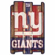 New York Giants Wood Fence Sign