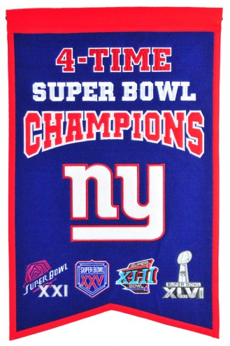 New York Giants Champs Banner
