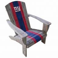 New York Giants Wooden Adirondack Chair