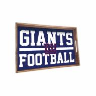 New York Giants Wooden Serving Tray