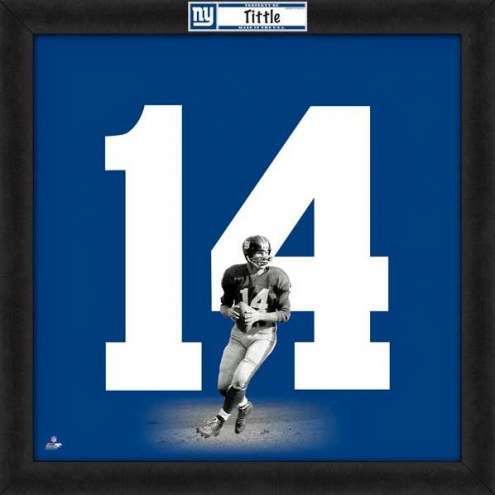New York Giants Y.A. Tittle Uniframe Framed Jersey Photo