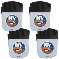 New York Islanders 4 Pack Chip Clip Magnet with Bottle Opener