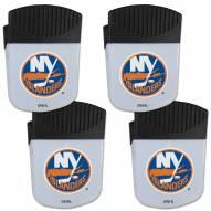 New York Islanders 4 Pack Chip Clip Magnet with Bottle Opener