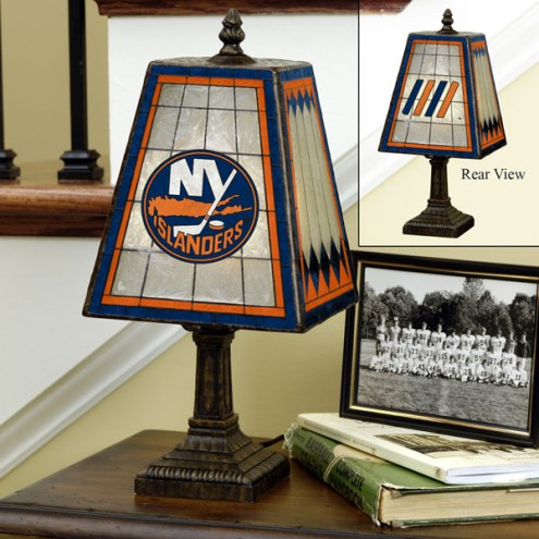 New York Islanders Art Glass Table Lamp