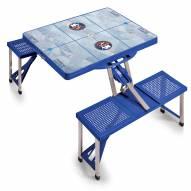 New York Islanders Blue Sports Folding Picnic Table
