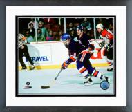 New York Islanders Bryan Trottier 1986-87 Action Framed Photo