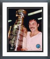 New York Islanders Bryan Trottier with Cup Framed Photo