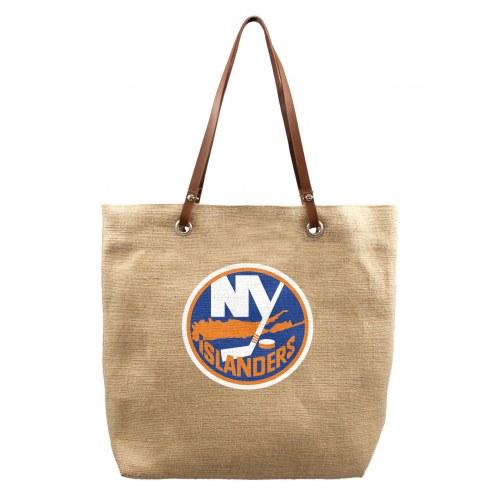 New York Islanders Burlap Market Tote