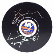 New York Islanders Butch Goring Signed Puck w/ 81 Conn Smythe