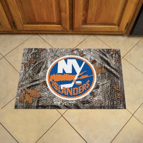 New York Islanders Camo Scraper Door Mat