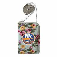 New York Islanders Canvas Floral Smart Purse