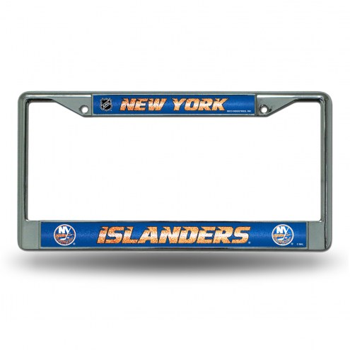 New York Islanders Chrome Glitter License Plate Frame