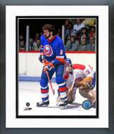 New York Islanders Clark Gillies 1983 Action Framed Photo