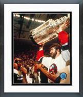 New York Islanders Clark Gillies with the Stanley Cup Framed Photo