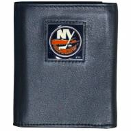 New York Islanders Deluxe Leather Tri-fold Wallet in Gift Box