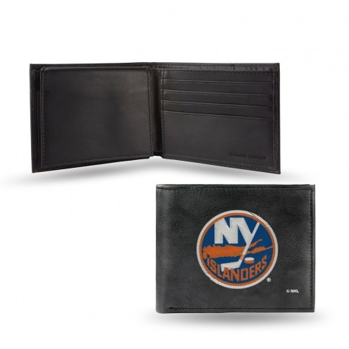 New York Islanders Embroidered Leather Billfold Wallet