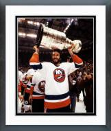 New York Islanders Ken Morrow with the 1983 Stanley Cup Trophy Framed Photo
