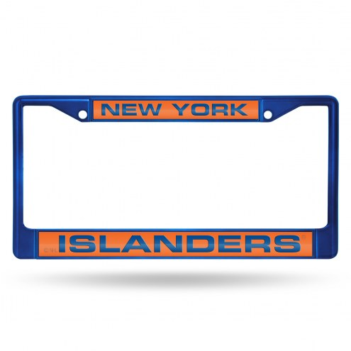 New York Islanders Laser Colored Chrome License Plate Frame