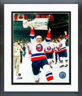 New York Islanders Mike Bossy with Stanley Cup Framed Photo