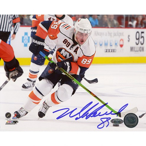 """New York Islanders Mike Comrie Stick Handling Signed 16"""" x 20"""" Photo"""