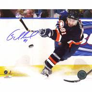 "New York Islanders Miroslav Satan Home Slap Shot Signed 16"" x 20"" Photo"