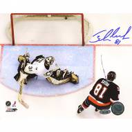 "New York Islanders Miroslav Satan Shootout Goal vs Penguins Signed 16"" x 20"" Photo"