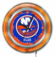 New York Islanders Neon Clock