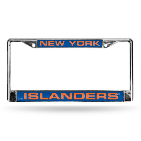 New York Islanders NHL Laser Chrome License Plate Frame